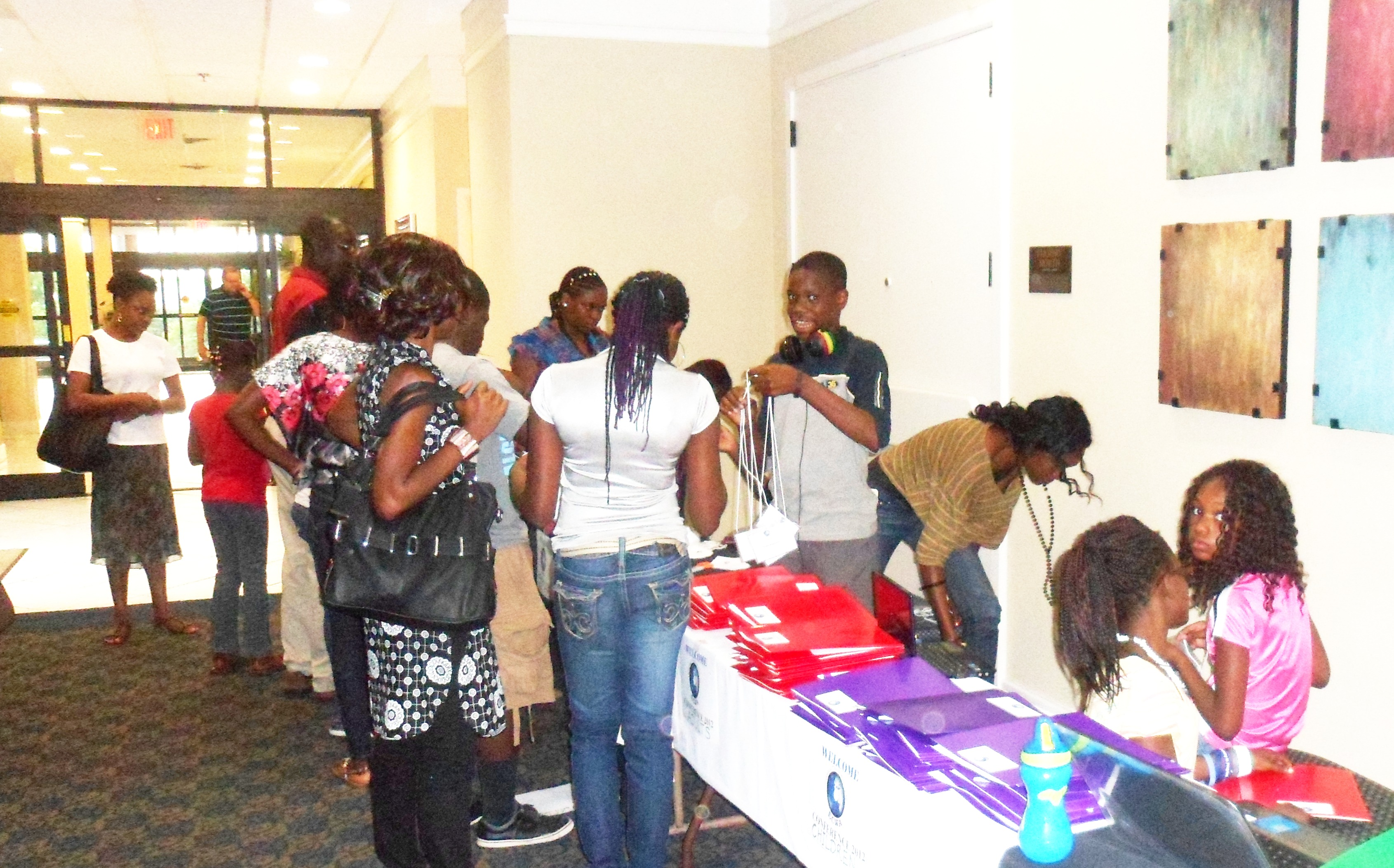 Registering the adults during ECWA Conference