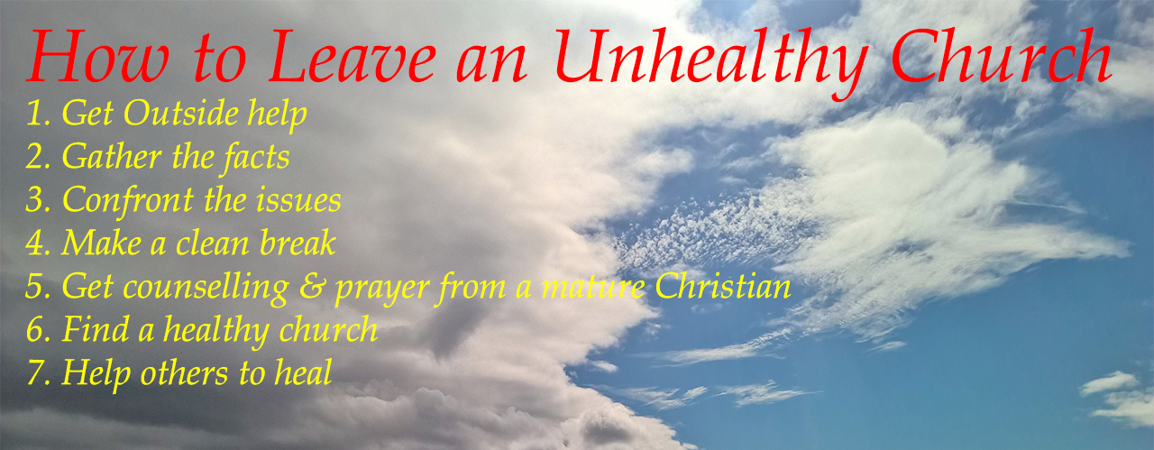 How to Leave an Unhealthy Church