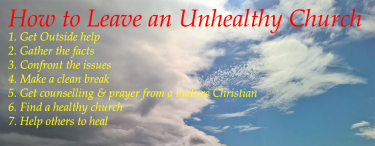 Permalink to:How to Leave an Unhealthy Church