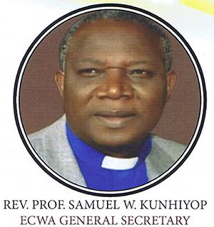 The ECWA General Secretary, Rev. Prof. Samuel W. Kunhiyop