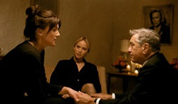 lisabeth Rohm, Jennifer Lawrence, and Robert De Niro in 'Joy'