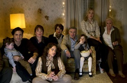 Jennifer Lawrence, Edgar Ramirez, Elisabeth Rohm, Dashca Polanco, Isabella Rossellini, Robert De Niro, and Diane Ladd in 'Joy'
