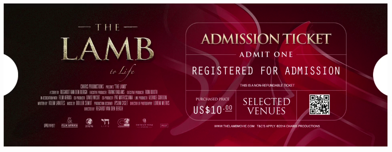 The Lamb to Life ticket