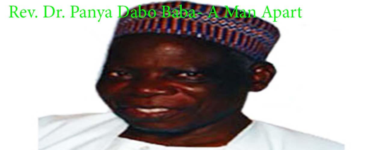Rev. Dr. Panya Dabo Baba: A Man Apart