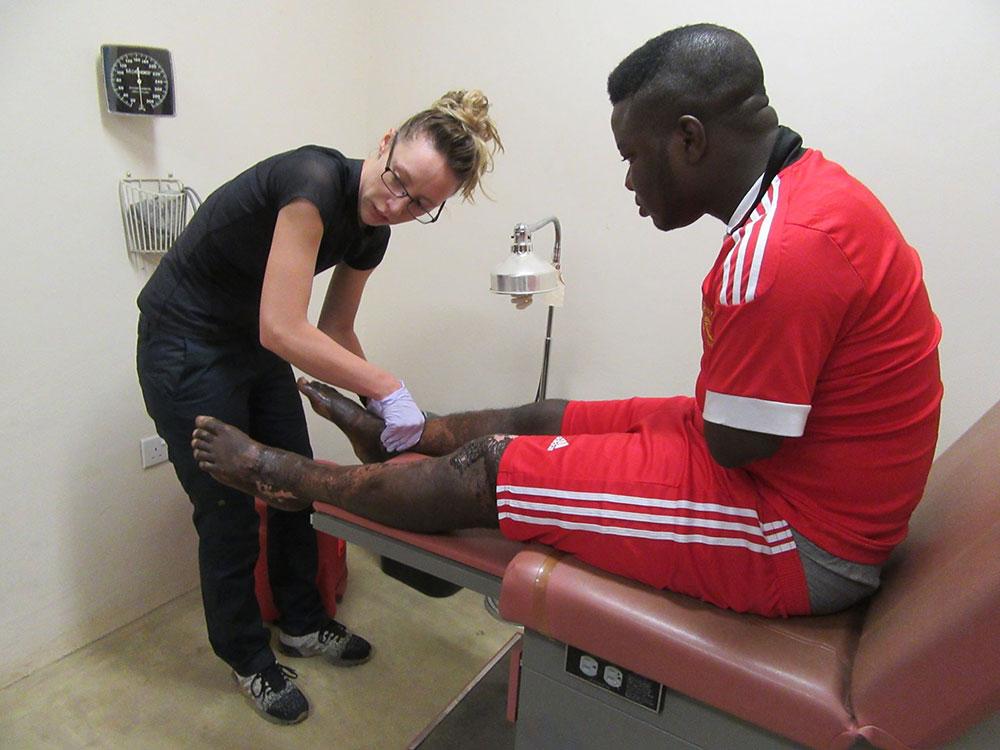 Britney Sports: Therapist at Egbe Hospital