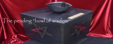 """The pending """"bowl of wisdom"""""""