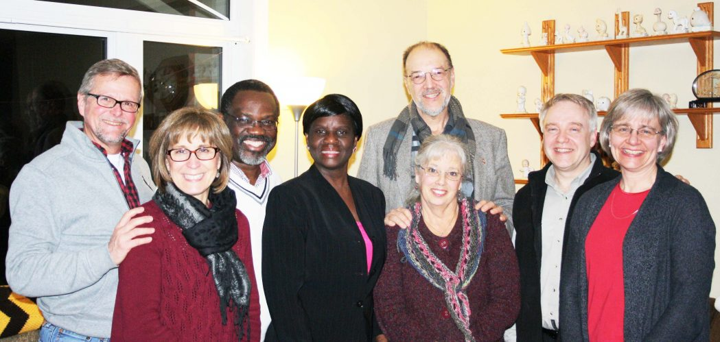 Mission pastor Rev. Brian and Kim Mitton, Benjamin and Christine Hegeman, Perspective directors, Ron and Sharon Nehring.