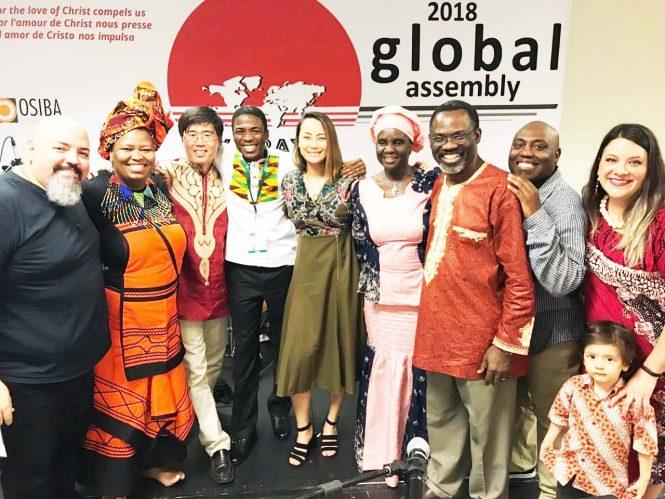 Our worship time was led by a multi-ethnic worship team in diverse languages: Humberto Fernandez, Minah Koela, Jaewoo Kim, Jervis Djokoto, Julie Tai, Eric Lige, Sandra Van Opstal and her son.