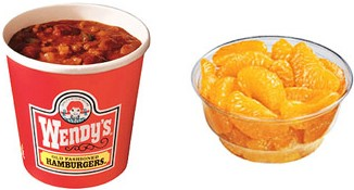 Large Chili with side of Mandarin Oranges (Wendy's)