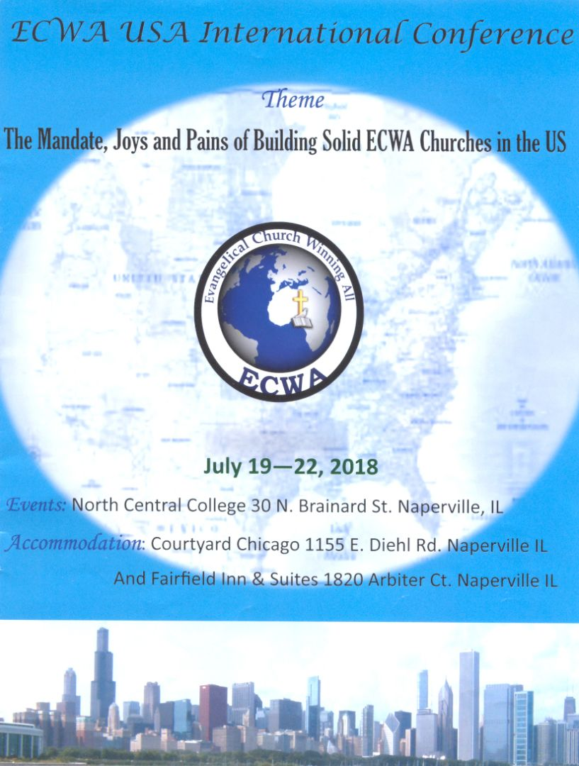 001 - ECWA USA 2018 International Conference in Chicago, IL, USA - Thursday - July 19, 2018 Images