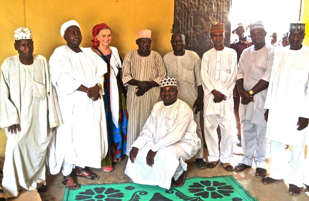 A family meeting of the brother's of Alhaji Isah in Bida