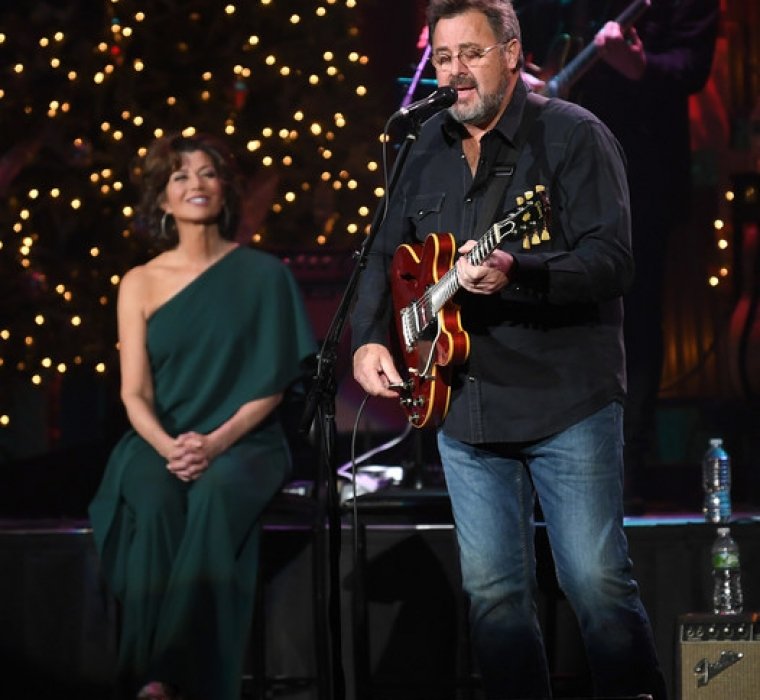 Amy Grant And Vince Gill - Christmas At The Ryman - Amy Grant and Vince Gill perform during Christmas at The Ryman at the Ryman Auditorium on November 28, 2018 in Nashville Tennessee