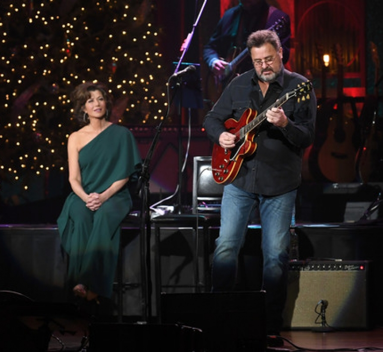 Amy Grant And Vince Gill - Christmas At The Ryman - Amy Grant and Vince Gill perform during Christmas at The Ryman at the Ryman Auditorium on November 28, 2018 in Nashville, Tennessee
