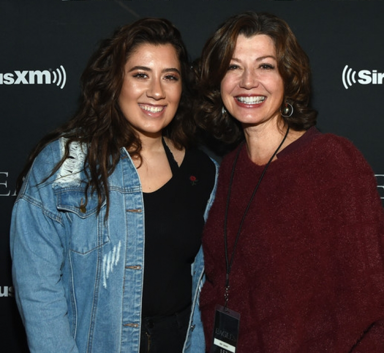 Corrina Grant Gill and Amy Grant attend SiriusXM presents the Eagles in their first ever concert at the Grand Ole Opry House on October 29, 2017 in Nashville, Tennessee