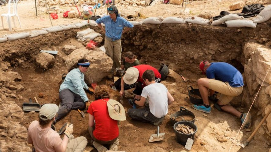 Cross-section of the Archaeological dig - Photo, CBN News, Jonathan Goff