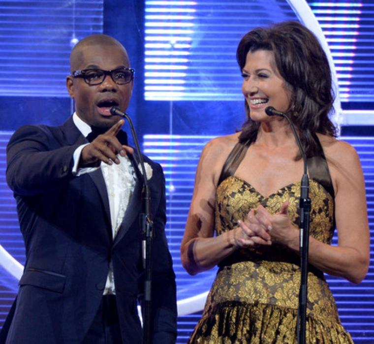 Kirk Franklin and Amy Grant host the 44th Annual GMA Dove Awards on October 15, 2013 in Nashville, Tennessee