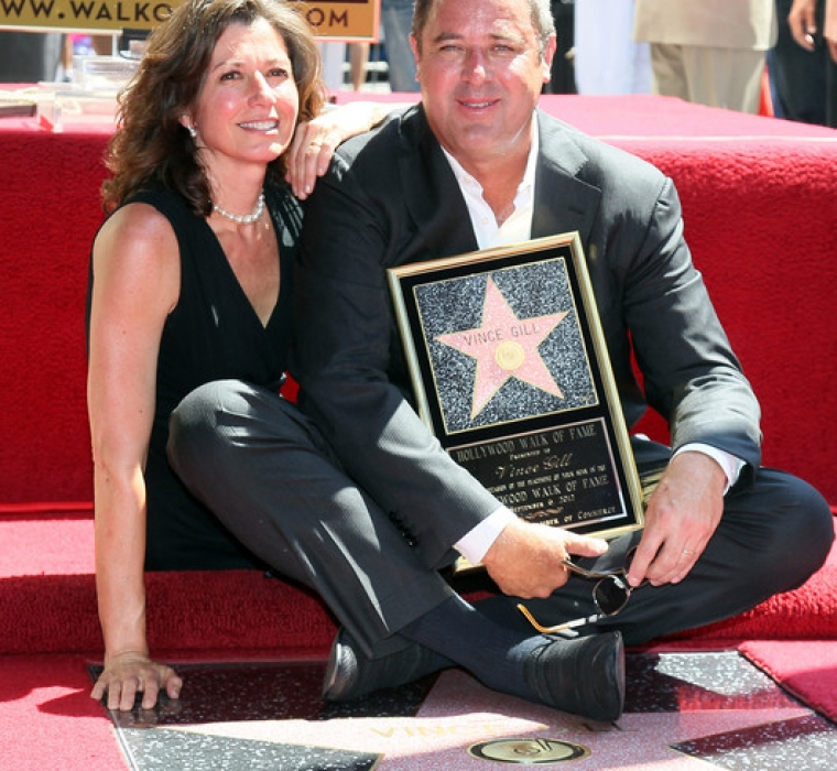 Recording artists Amy Grant (L) and Vince Gill attend Gill being honored with a Star on the Hollywood Walk of Fame on September 6, 2012 in Hollywood, California