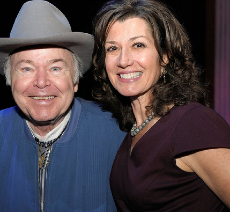 Roy Clark and Amy Grant attends Center Stage at The Opry celebrating Minnie Pearl's 100th at The Grand Ole Opry on October 22, 2012 in Nashville, Tennessee