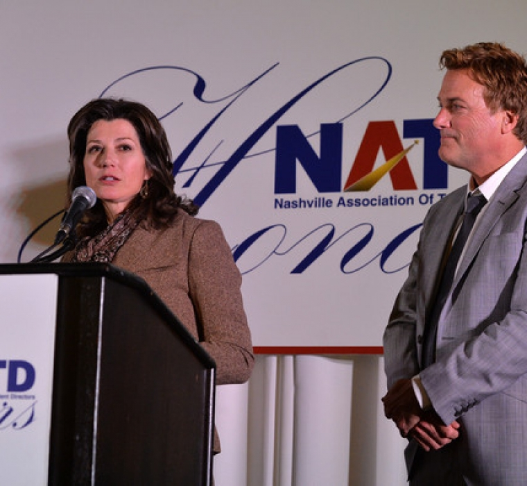 Singer:Songwriter Amy Grant and Singer:Songwriter Michael W. Smith attend the 3rd. annual NATD Honors 2013 at the Hermitage Hotel on November 12, 2013 in Nashville, Tennessee