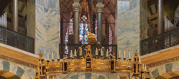 Interior of the Palatine Chapel in Aachen