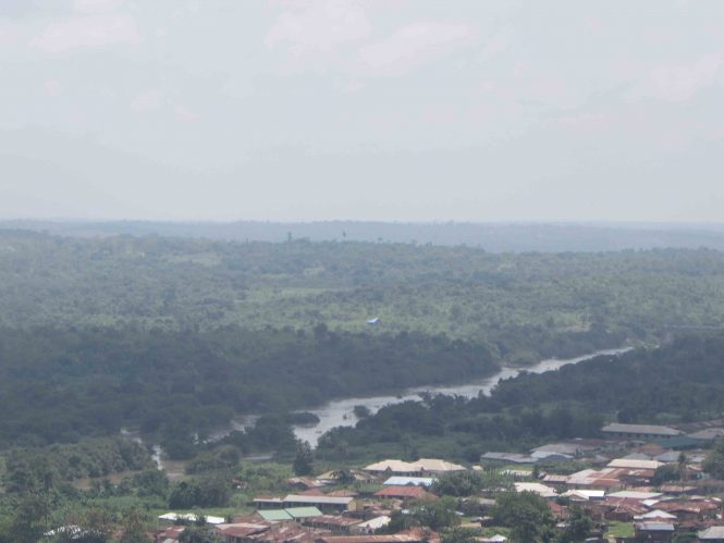 The view of the Ogun river from Olumo Rock