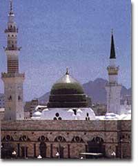 This is prophet Muhammad's mosque in Medina