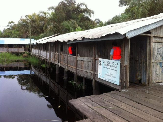 Primary School in Nzulezo Ghana - The village on stilts.