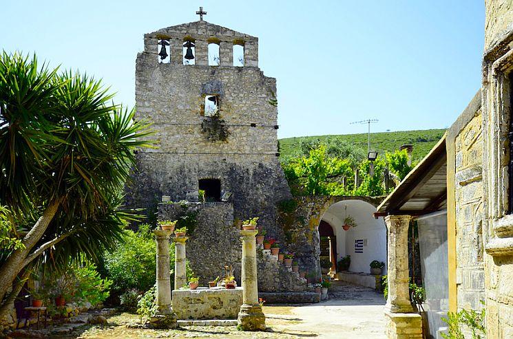 Greece, Zakynthos Island, monastery of Panagia Anafonitria.