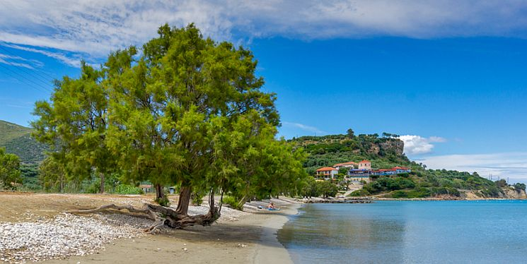 The sweet little beach of Limni Keriou.