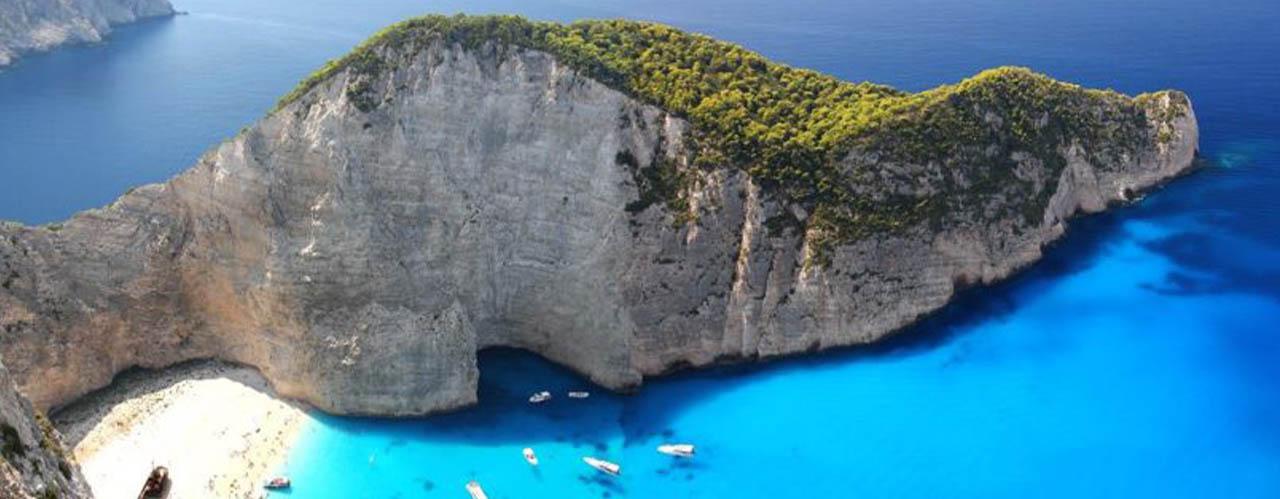 Zakynthos Island in Ionian.