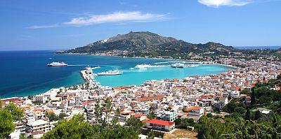 The capital of the island of Zakynthos - Zakynthos Town. Greece