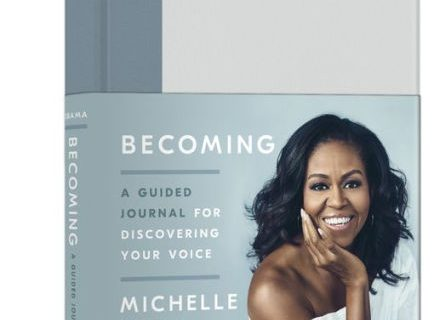 Becoming: A Guided Journal for Discovering Your Voice by Michelle Obama.