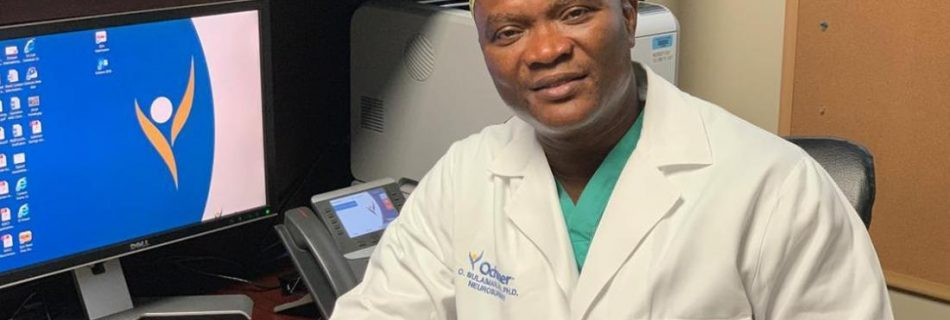 Dr. Olawale Sulaiman is a professor of neurosurgery and spinal surgery and chairman for the neurosurgery department and back and spine center at the Ochsner Neuroscience Institute in New Orleans.