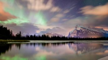 Vermillion Lakes in Alberta's National Park. (Image Travel Alberta)