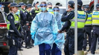 Authorities have launched a massive response to the virus outbreak in Melbourne (Getty Images)