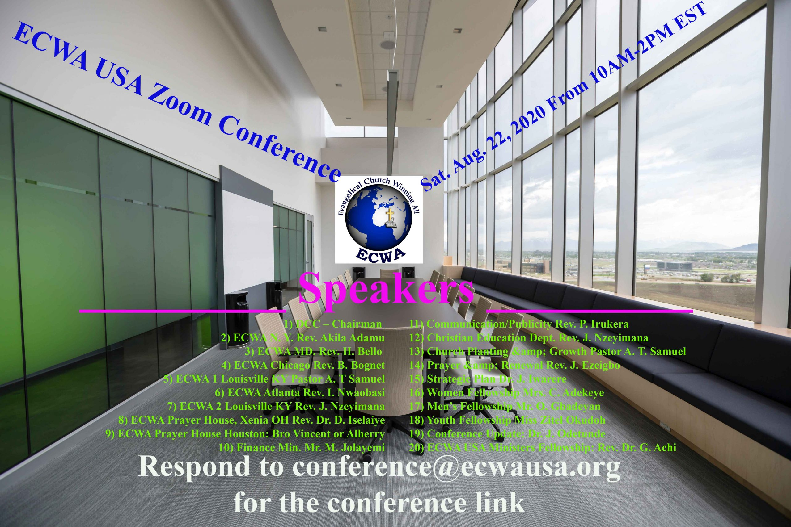 ECWA USA Zoom Conference - 22 August 2020