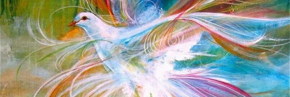Holy Spirit Dove digital prophetic art painting by Charlotte Szivak (Pinterest)