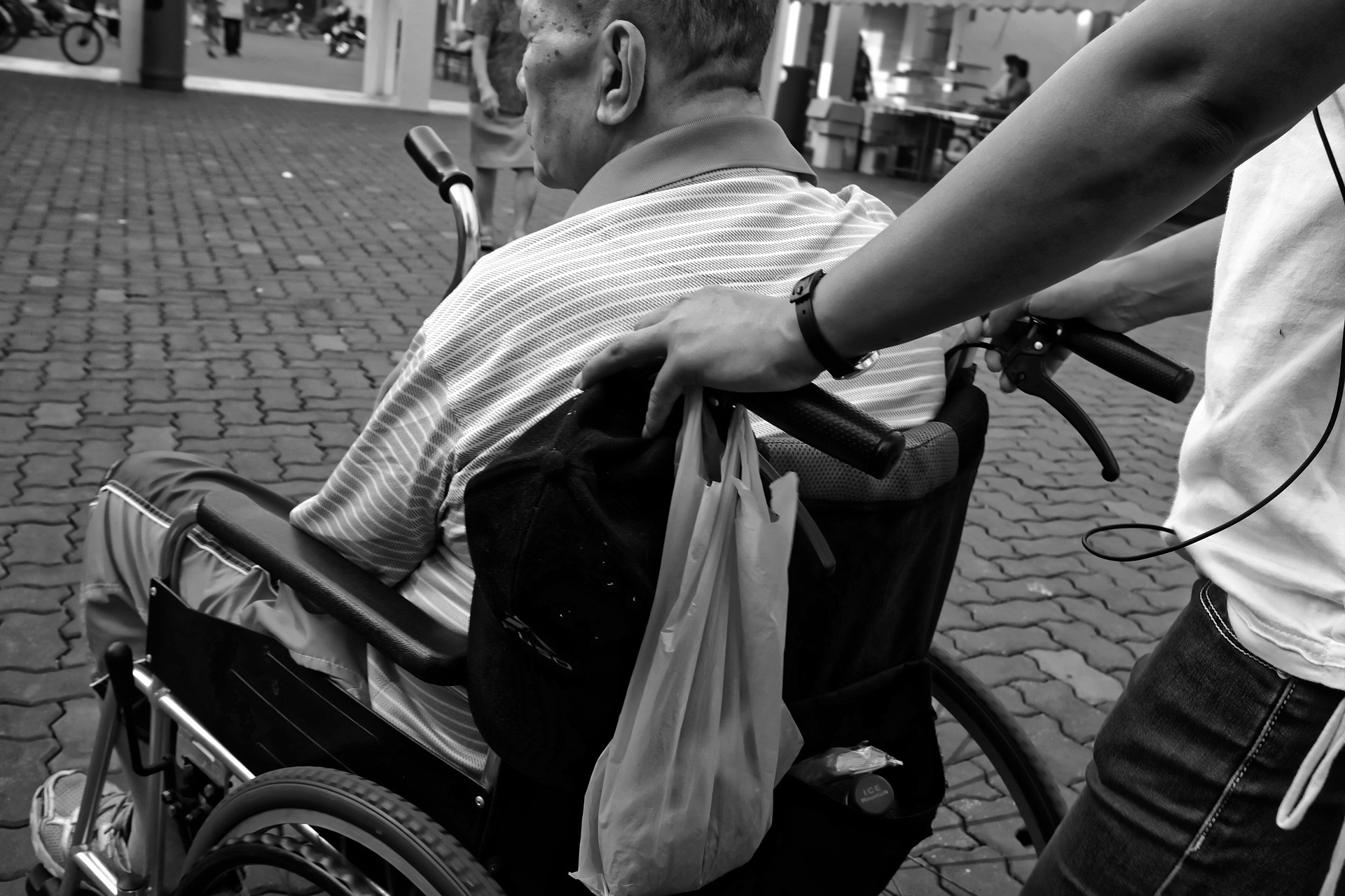 Elderly in a Wheelchair (Image by Kevin Phillips)